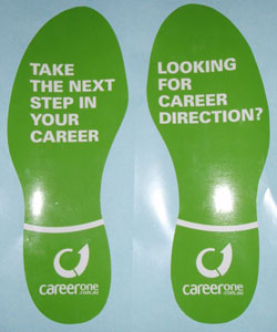 Career One Floor Stickers